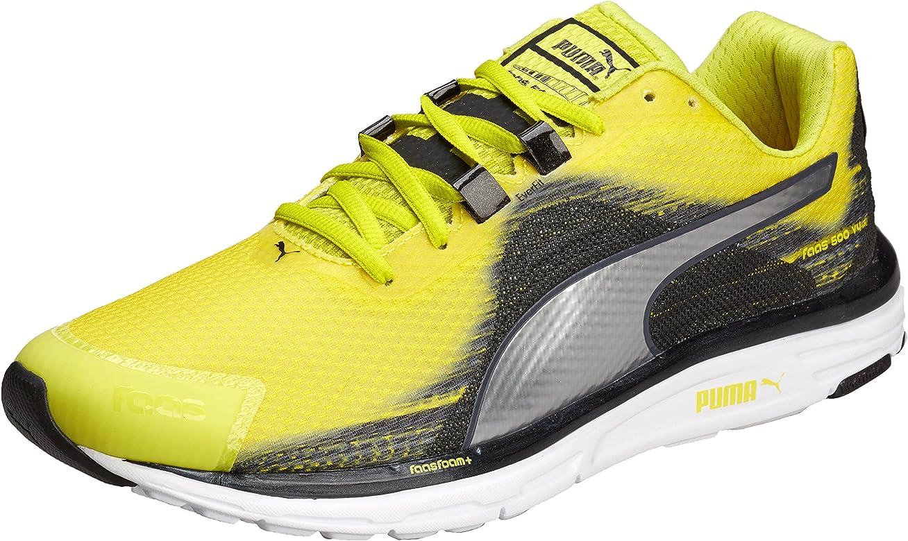PumaFaas 500 V4 - Zapatillas de Running Hombre, Multicolor (Multicolore (Sulphur Spring-Silver Metallic-Black)), 39: Amazon.es: Zapatos y complementos