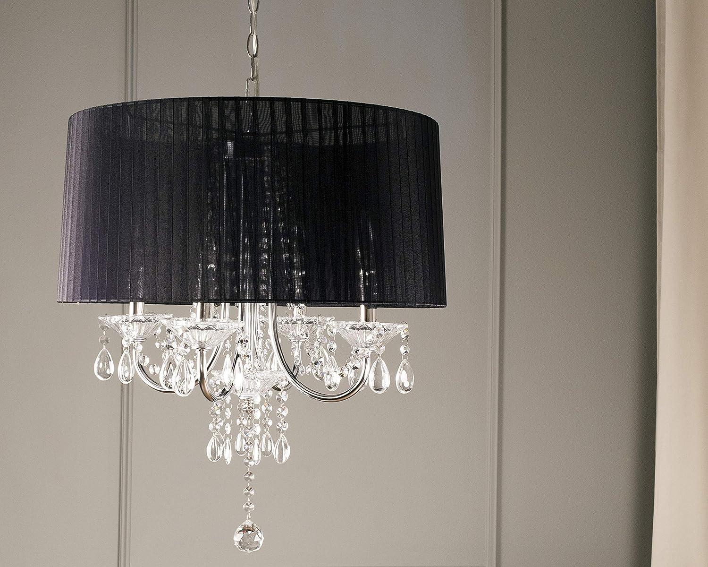 Amazon.com: ok-5111h 15-Inch Crystal Drop – Lámpara de techo ...