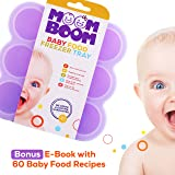 Silicone Baby Food Freezer Storage Containers - BPA Free Reusable Mold - Homemade Baby Food, Soup, Milk, Ice Cubes, Ice Cream, Sauces, Wine Tray – Bonus E Book 60 Freezable Baby Food Recipes