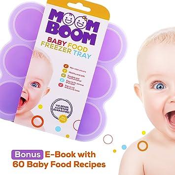 amazon com silicone baby food freezer storage containers bpa