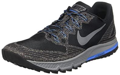 Nike Men's Air Zoom Wildhorse 3 GTX Running Shoes, Grey (Schwarz/Dunkel Grau