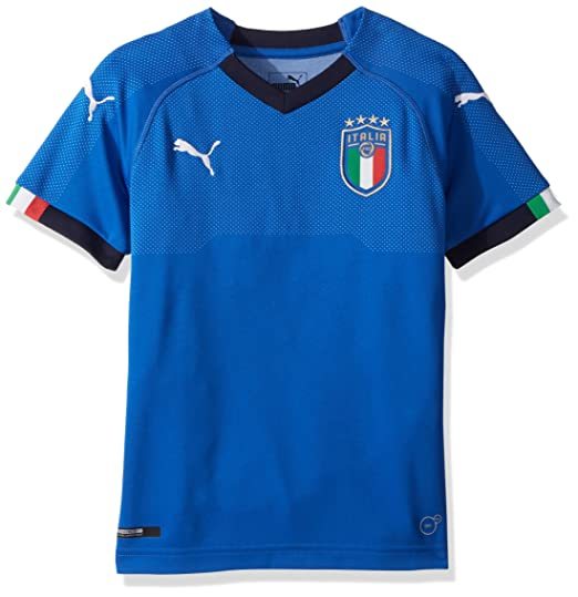 Amazon.com  PUMA Men s FIGC Italia Kids Home Shirt Replica Jersey ... 19425c4f9