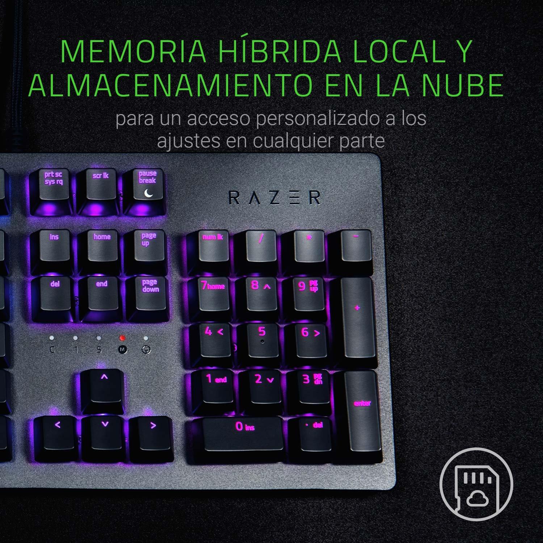 Razer Huntsman - Teclado mecánico gaming con switches optomecánicos (barra estabilizadora de teclas, memoria híbrida local, RGB Chroma) [QWERTY ...