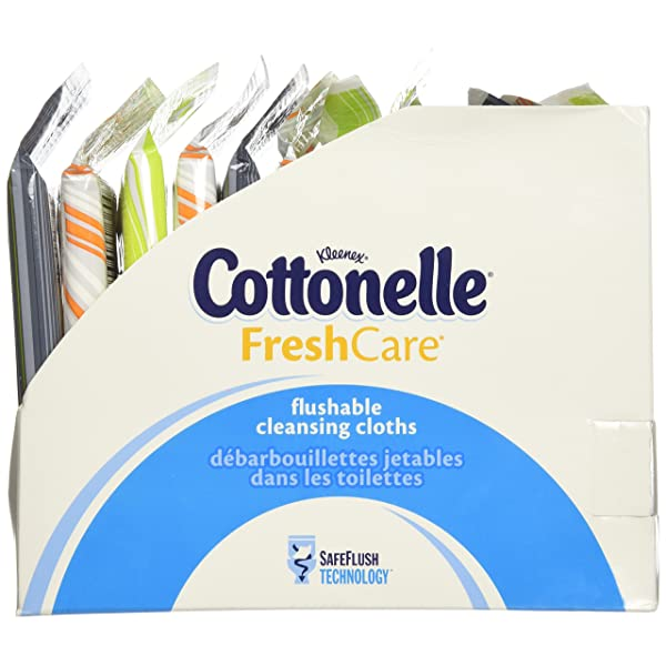 Cottonelle Fresh Care Flushable Wipes 12 Packs of 10 Cloths... Travel Pack
