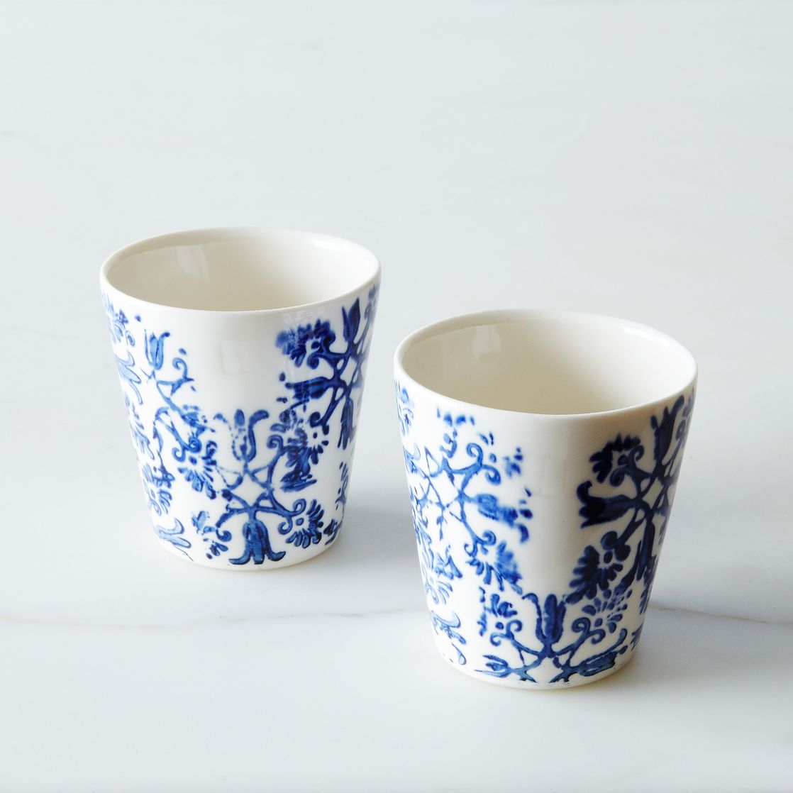 Floral Espresso Cups (Set of 2) - Small Ceramic Cups -- Mugs & Glassware - Art et Manufacture | Shop Food52 on Food52