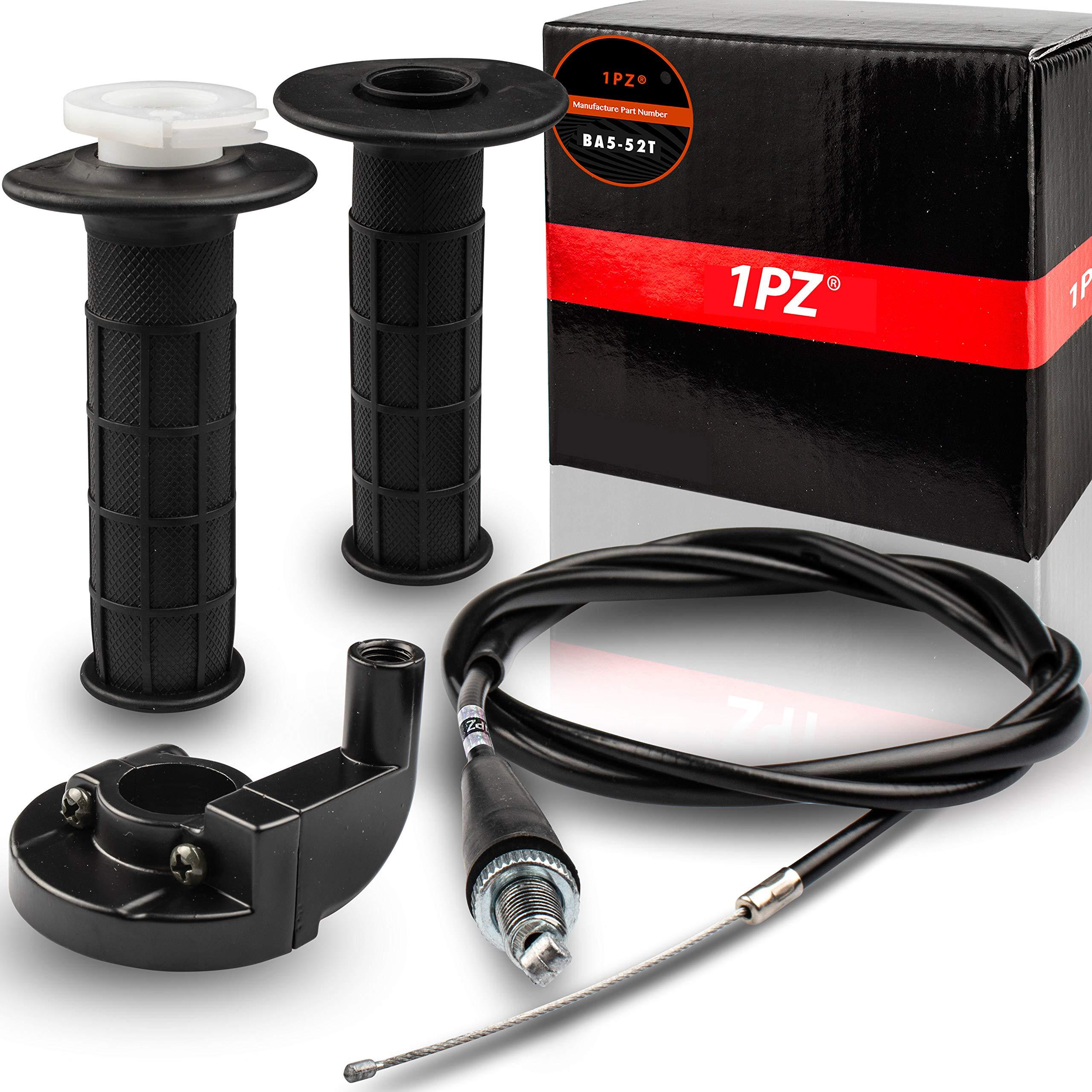 1PZ BA5-52T Throttle Handle and Grip Cable for Mini Baja Mb165 Mb200 5.5/6.5hp 196cc 200cc Doodlebug Bike