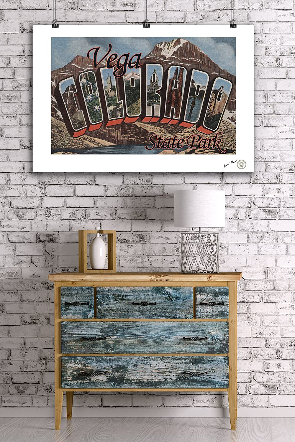 Vega State Park Colorado 24x36 Giclee Gallery Print, Wall Decor Travel Poster Large Letter Scenes