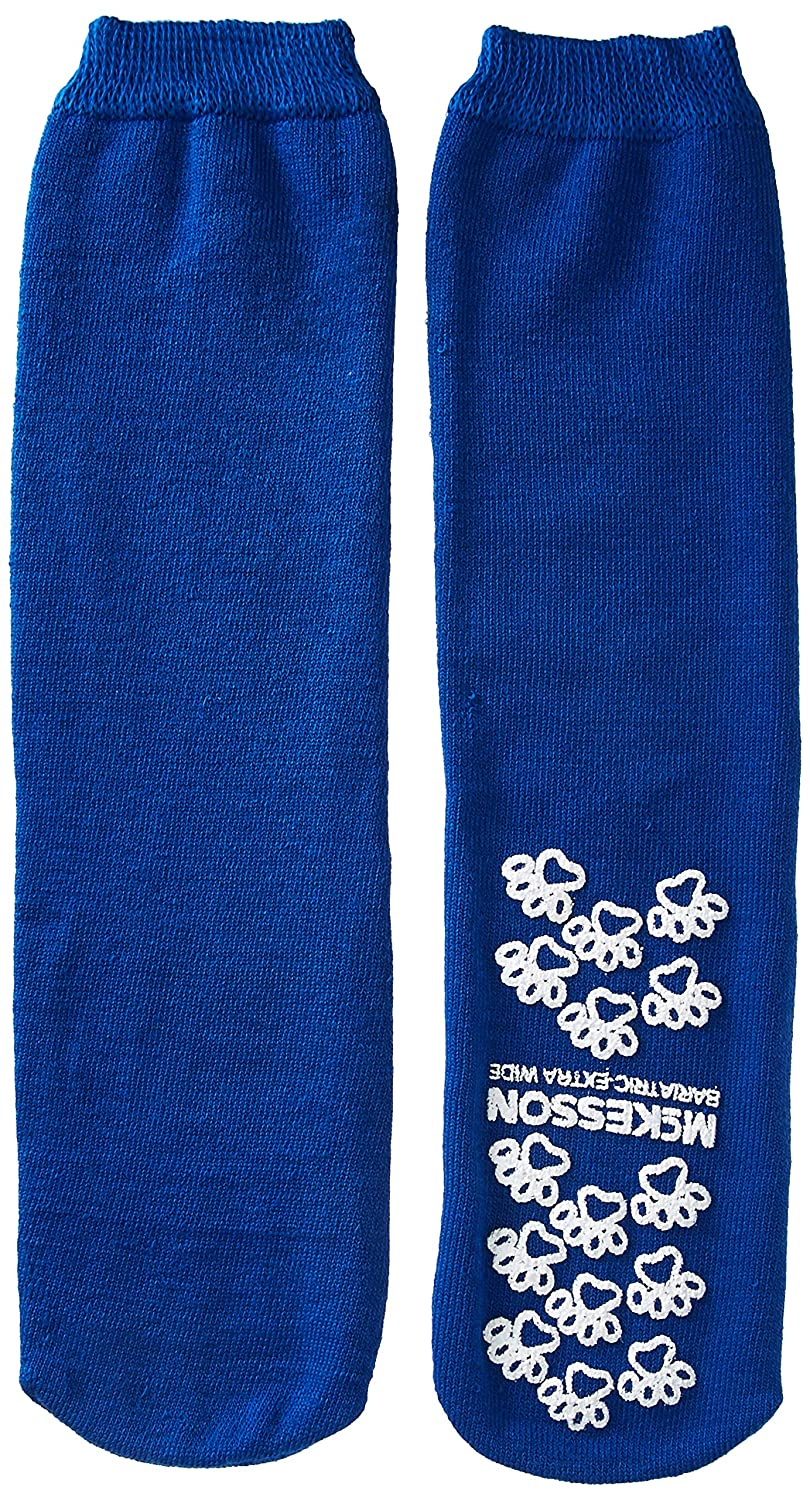 McKesson Medi-Pak Performance Slipper Socks Bariatric Extra Wide