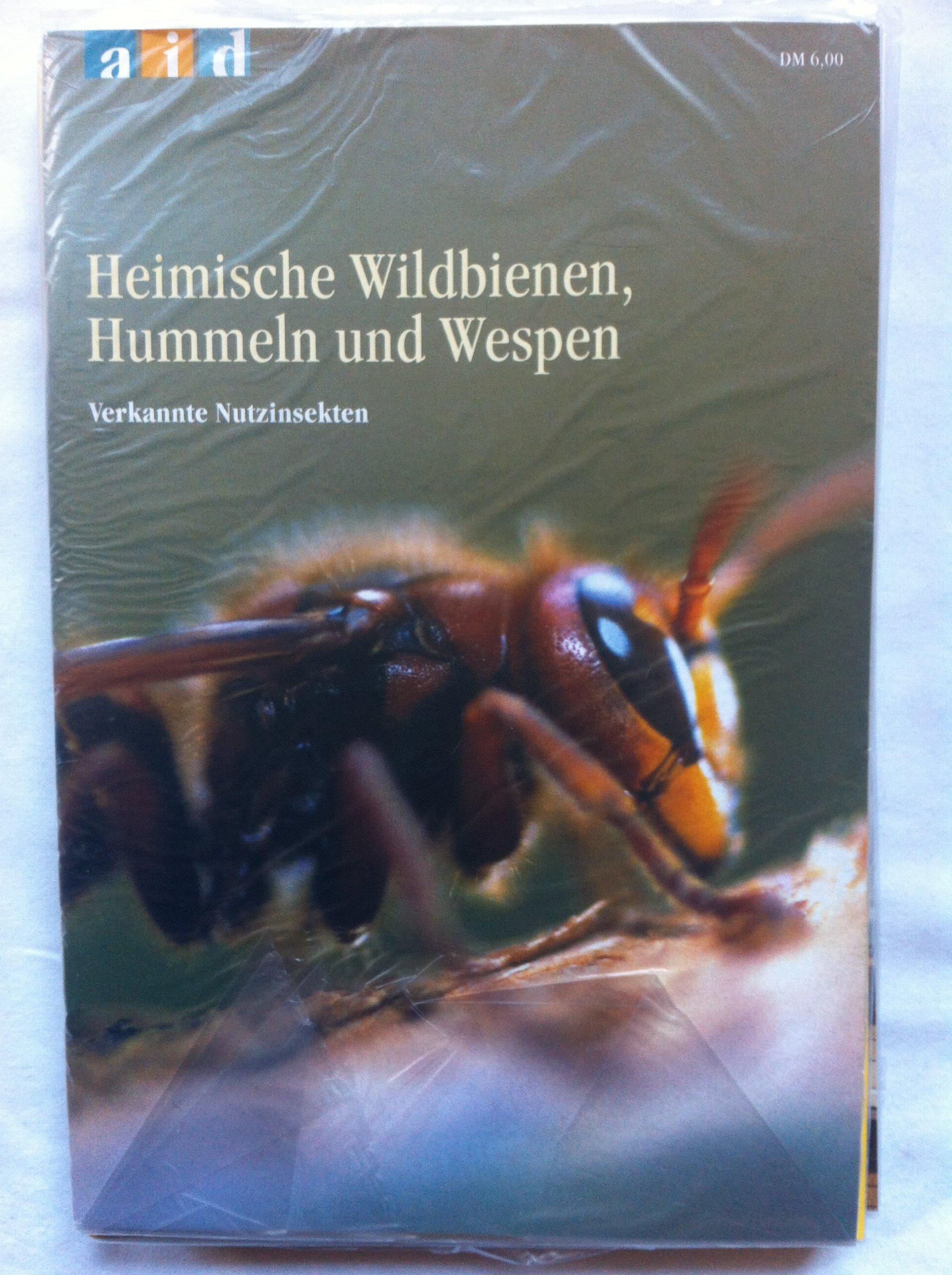 Heimische Wildbienen, Hummeln und Wespen - verkannte Nutzinsekten