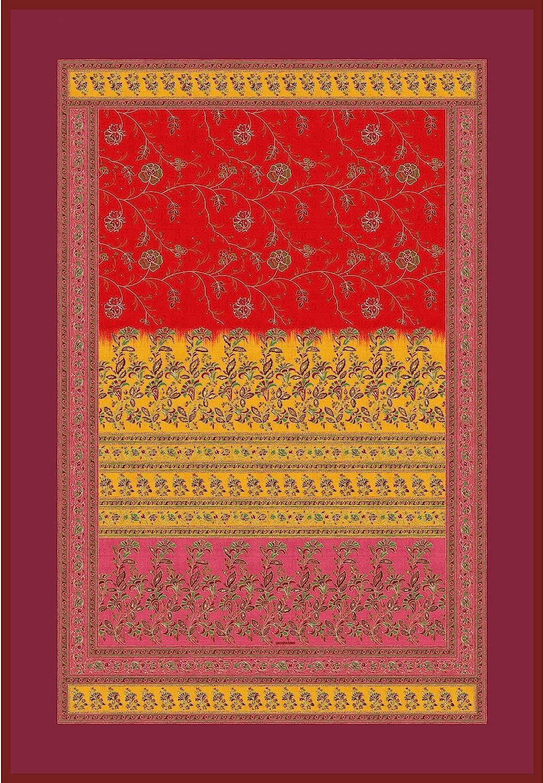 Bassetti MONTEFANO - Manta (algodón, 135 x 190 cm), Color Rojo
