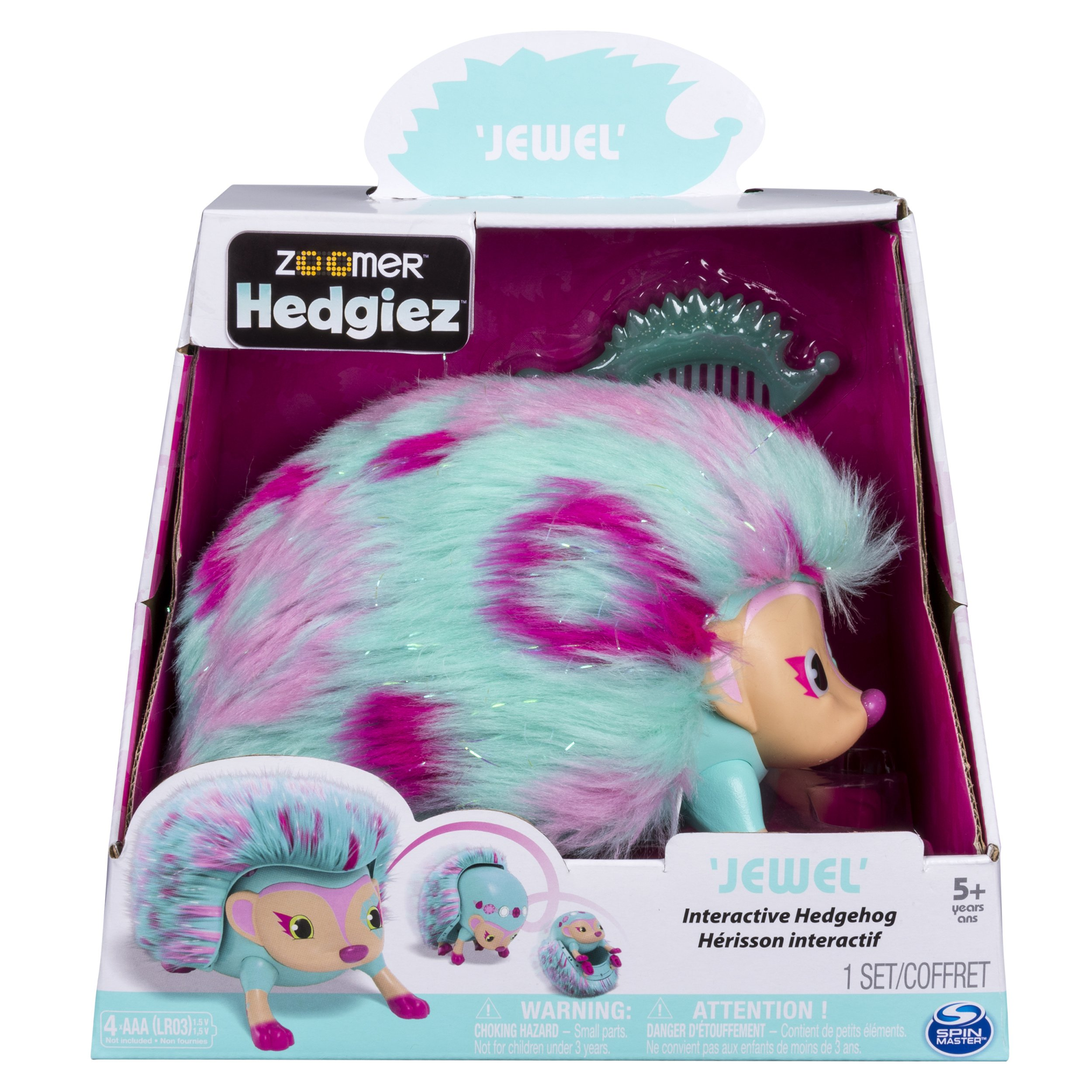 Zoomer Hedgiez Interactive Hedgehog with Lights, Sounds and Sensors, by Spin Master by Zoomer (Image #2)