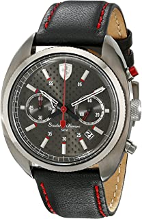 Ferrari Mens 830209 Formula Sportiva Analog Display Quartz Black Watch