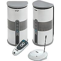 Enceintes acoustiques sans fil Wifi Puissance sinusoïdale 2 × 5W avec télécommande (Enceinte d'extérieur étanches)