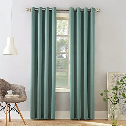 Amazoncom Sun Zero Barrow Energy Efficient Grommet Curtain Panel