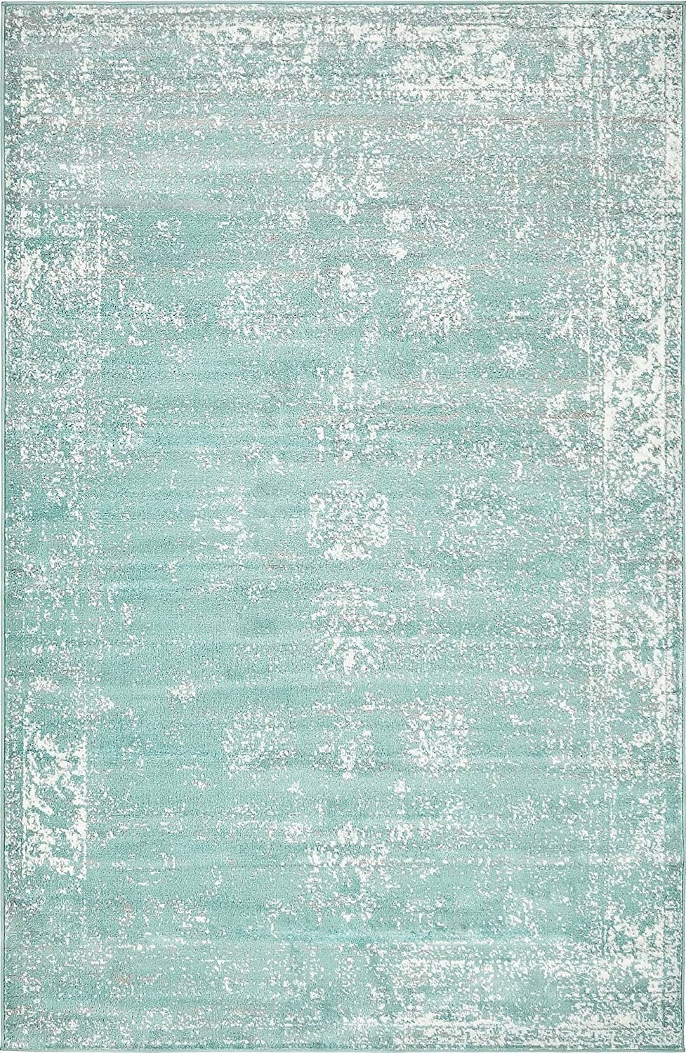 Unique Loom 3137809 Sofia Collection Traditional Vintage Beige Area Rug, 5' x 8' Rectangle, Turquoise