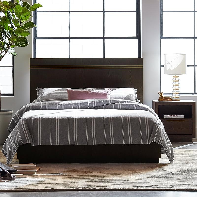 Rivet West Platform Queen Bed With Inlays