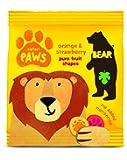 Bear Pure Fruit Paws 20 g Safari Orange & Strawberry (Pack of 18)