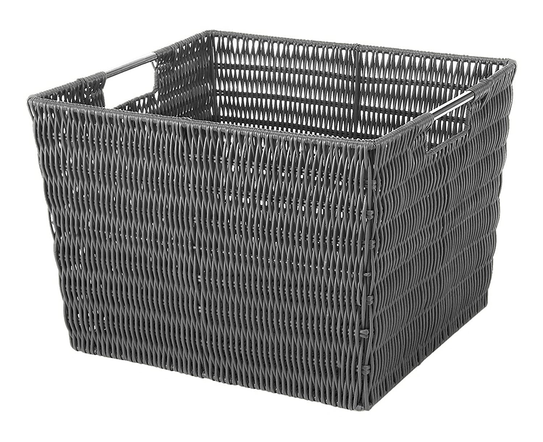 Whitmor 6500-1715 Rattique Storage Tote-Grey 6500-1715-GREY