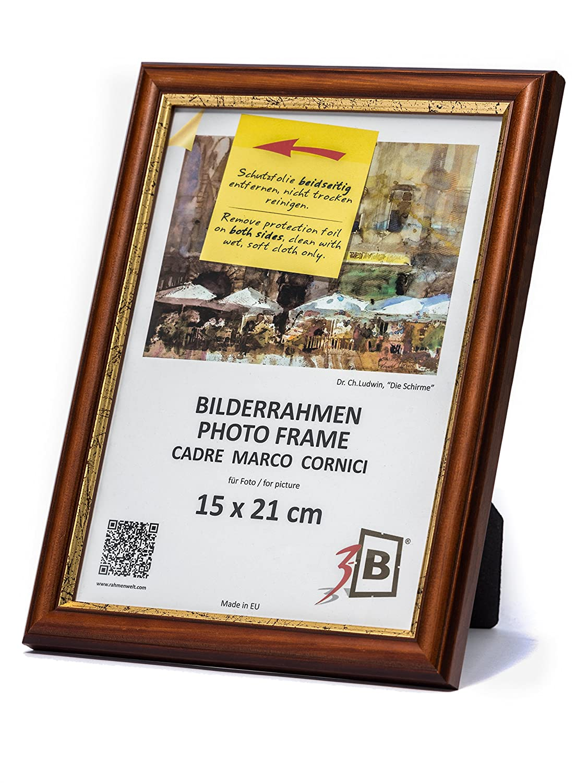 3-B Bilderrahmen BARI RUSTIKAL - dunkel braun - 20x30 cm ...
