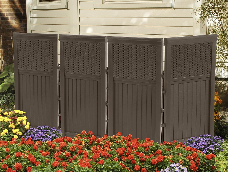 Elegant Amazon.com : Suncast FSW4423 4 Panel Resin Wicker Outdoor Screen : Deck  Boxes : Garden U0026 Outdoor