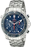 Omega Men's 21230445003001 Diver 300 M Co-Axial Chronograph Sliver Watch