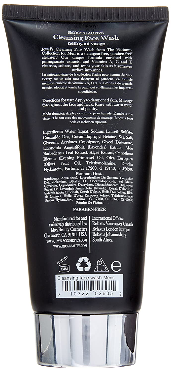 Amazon.com: Micabeauty Cosmetics Platinum Collection Cleansing Face Wash for Men, 5.07 Ounce: Beauty