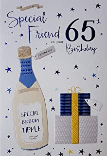 For A Special Friend 65th Birthday Card Male 2086