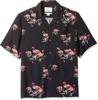 Marca Amazon - 28 Palms - Camisa vintage de rayón 100 % lavado y ...