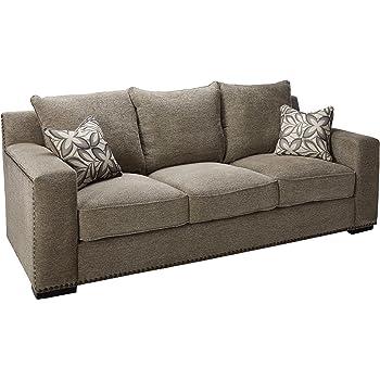 Attirant Acme Furniture ACME Ushury Gray Chenille Sofa With 2 Pillows