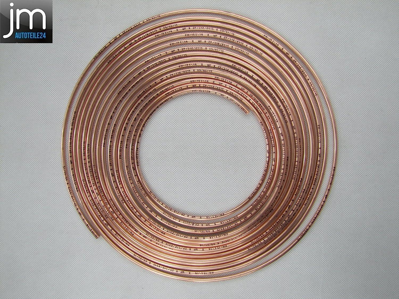 15 Verbinder 30 Verschraubungen 10m Bremsleitung Kunifer 4,75 mm
