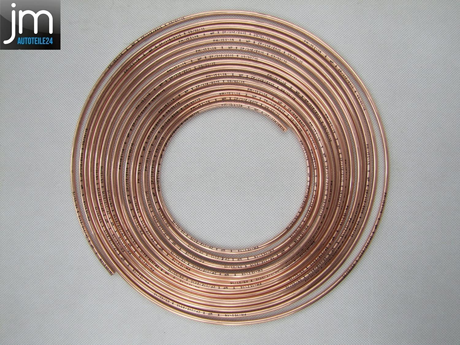 Wp - 10  m  –   cable freno freno tubo 4, 75  mm cobre 75 mm cobre