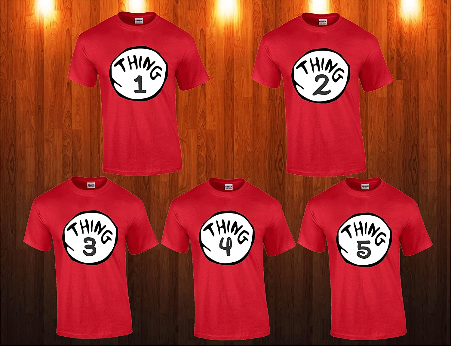 Amazon Com Thing 1 Thing 2 3 4 5 T Shirts Nice Cute Dr Seuss New