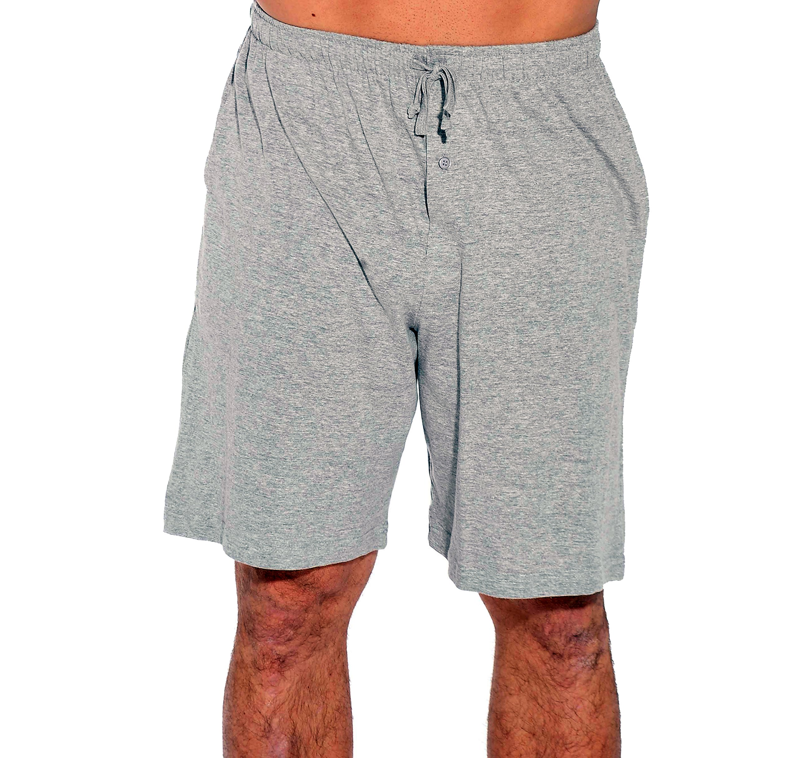 At The Buzzer 14501-Grey-M Men's Pajama Shorts/Sleepwear/PJS