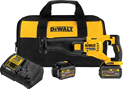 DEWALT DCS388T2 FLEXVOLT 60V MAX Lithium-Ion Brushless Reciprocating Saw Kit includes 2 Batterie