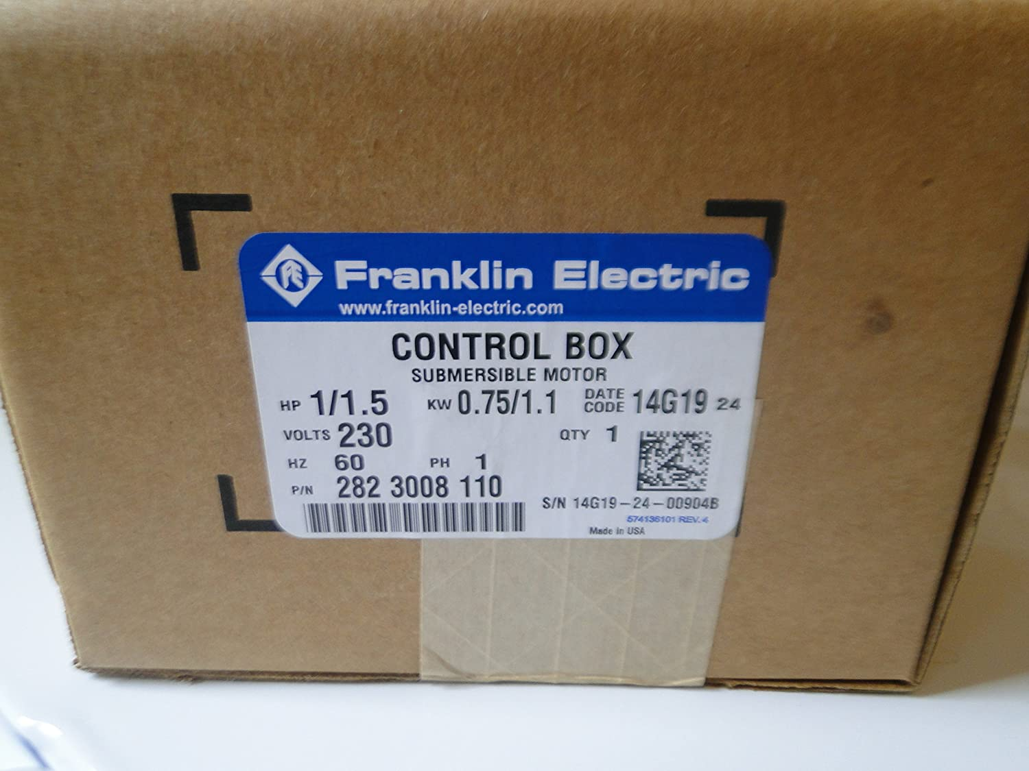 Franklin Electric 1 1/2 1 5 Hp Submersible Water Pump Control Box