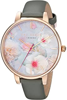 6d7f991fc03b5 Ted Baker Womans Kate Floral Strap Black Dial TE10031549  Amazon.co ...
