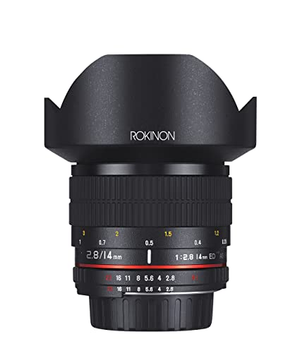 Rokinon 14mm f/2 8 IF ED UMC Ultra Wide Angle Fixed Lens w/ Built-in AE  Chip for Nikon