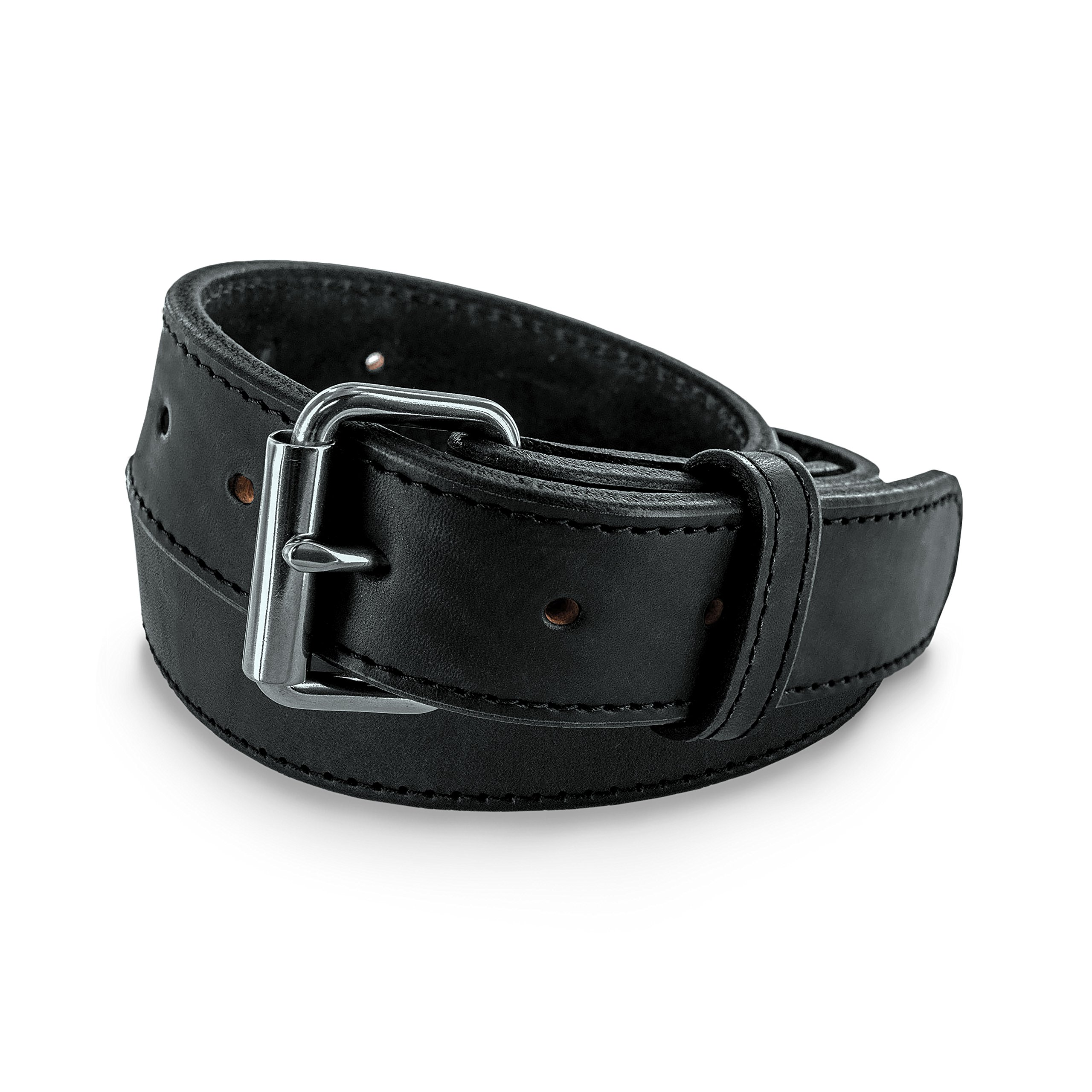Hanks Extreme - Leather Gun Belt for CCW - Concealed Carry - 17oz. Premium Leather Belt - Made in USA - 100-Year Warranty - Black - Size 40
