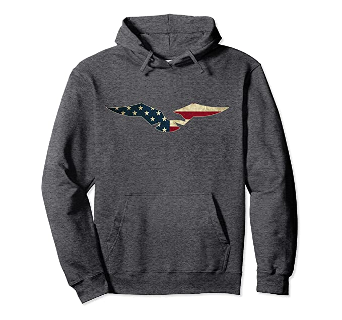 sneakers for cheap 3c4fd 8b90b Amazon.com: USA American Flag Colors Eagle Outline Hoodie ...
