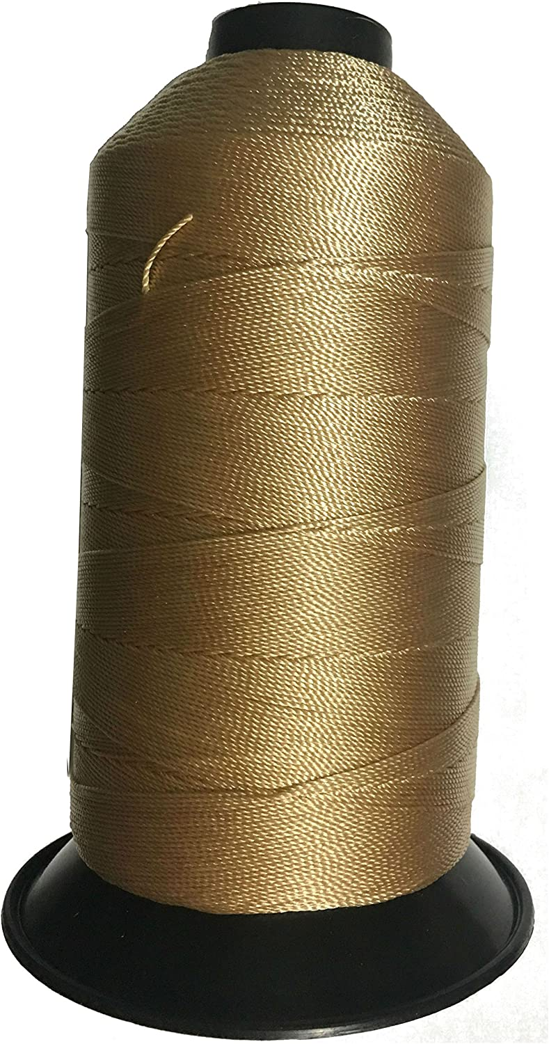for leather upholstery and more Braided Poly Thread Black Size 207 Bonded 1 lb