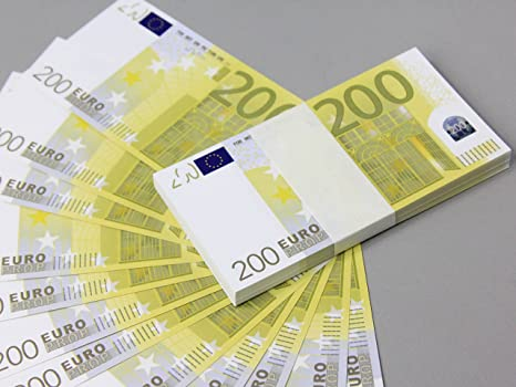 Euro 200 Full Print Double Sided Prop Money Stack For