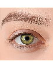 Stark deckende, natürliche Kontaktlinsen in der Farbe Antonino Green, aus der PREMIUM Kollektion geeignet für dunkle Augen, Silikon Hydrogel der Marke LUXDELUX