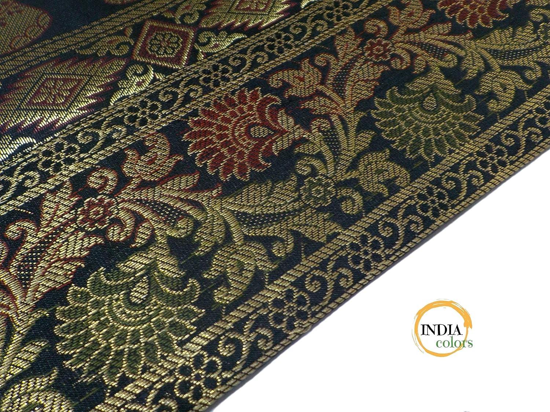 India colors. Cojín hindú (Satin Silk) Funda Bordado ...