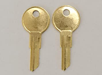 Pair Of 2 Replacement Keys For T01 T02 T04 Husky Tool Box Husky Only Home Depot Keys Pre Cut To Code By Keys22 T04 Husky Amazon Com
