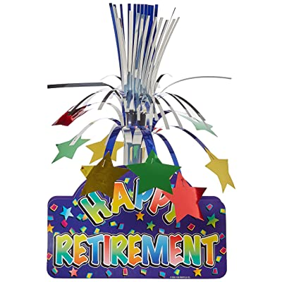 Happy Retirement Centerpiece Party Accessory (1 count) (1/Pkg): Party Table Centerpieces: Kitchen & Dining