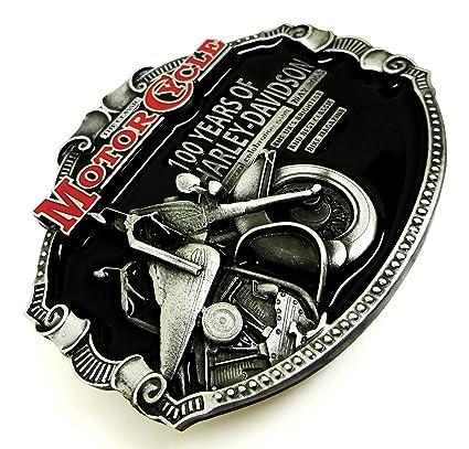 d4f28c623b51 Harley Davidson Boucle de Ceinture - 100 Ans de Harley Conception Licence  Officielle - Authentique Dragon Designs Produit de Marque ...