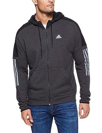 1a8470036d adidas Men's Sports Id Logo Full Zip French Terry Sweatshirt