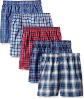 Fruit of the Loom Boys 5 Pack Tartan Boxers Assorted LG Multi-Color