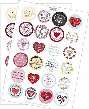 48 Aufkleber Sticker Deko Vintage Etiketten Hochzeit Geschenk Herz-en hellrosa 1
