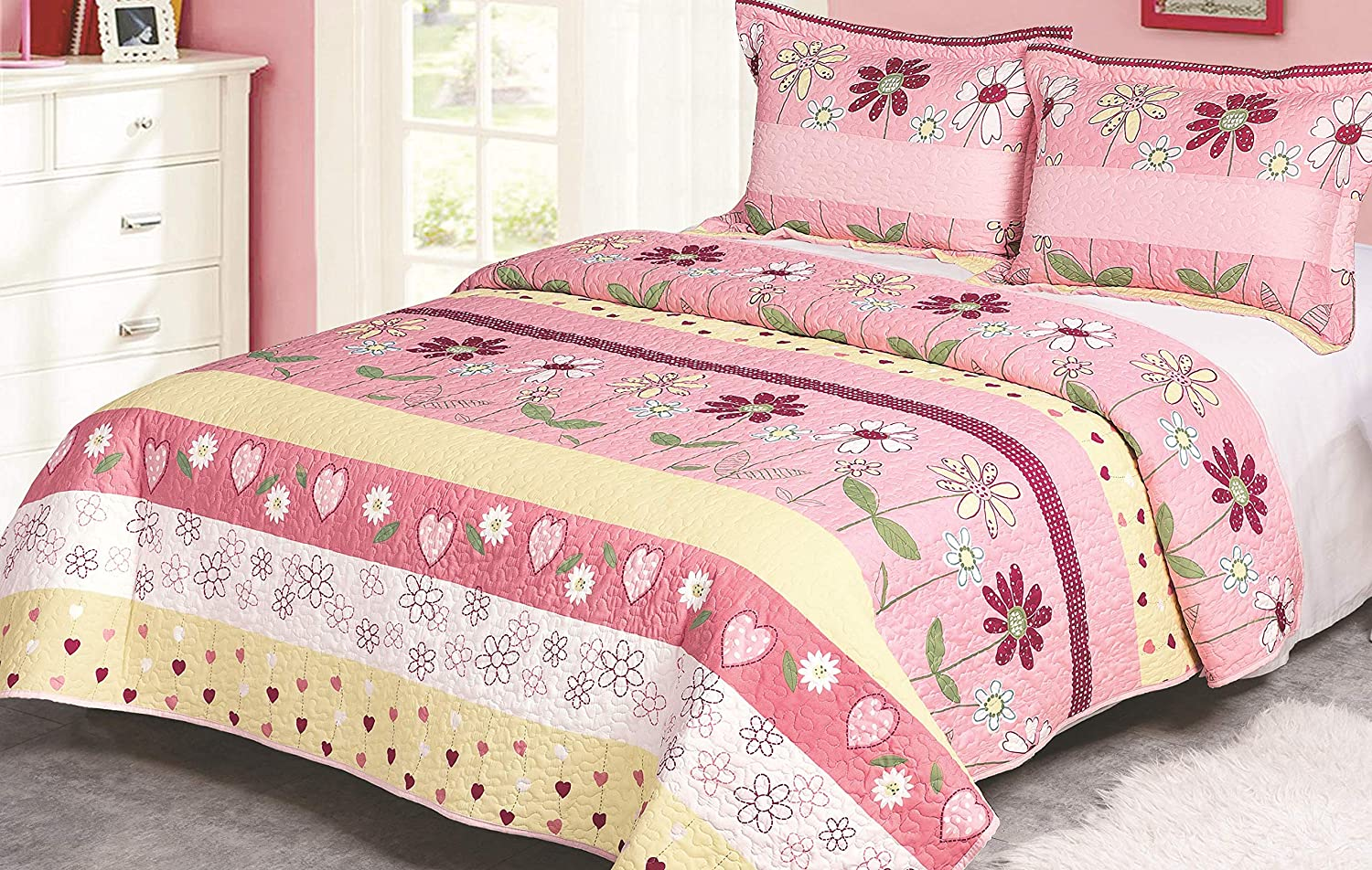 Amazoncom Golden Linens Twin Size Kids Bedspread Quilts Throw